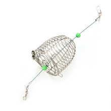 1 PCS Bait Cage Fishing Trap Basket Feeder Holder Stainless Steel Wire Coarse Fishing Lure Cage Fish Bait Lure Fishing Accessory(China (Mainland))