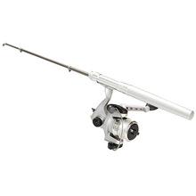 Mini Stretchable Fishing Rod Pole Reel Pocket Pen Type with Nylon Line Set