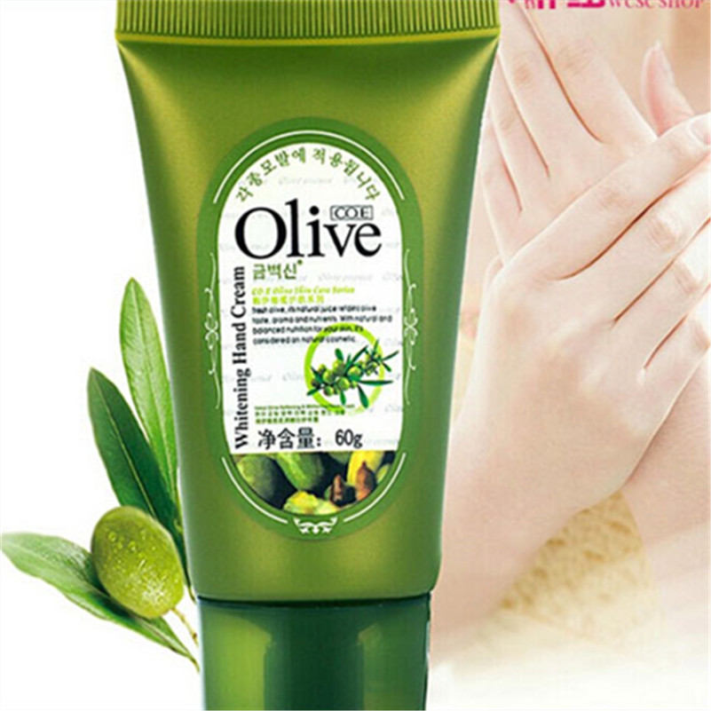 Olive Oil Hand Cream Whitening Cream For Hand Care Wrinkles Lotion Moisturizing Cute High Quality Retail(China (Mainland))