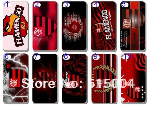 New Football Club Brazilian Team  Case Hard Back Cover For Iphone 4 4s 4g  20PCS/lot+free Shipping  Flamengo!