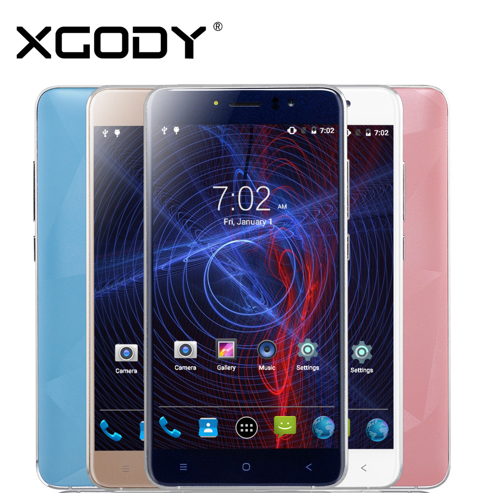 Xgody Mobile Phone 5.5 Inch 512MB RAM 8GB ROM With 5MP Camera Quad Core Android 6.0 D10 Dual Sim Unlocked Smartphone(China (Mainland))