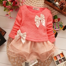 Free shipping 2016 high quality baby clothing spring new Korean girls dress sweet organza dress woven baby dress(China (Mainland))