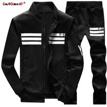 GustOmerD New Tracksuits Fashion Brand Men's Hoodies Men Sweatshirt +Pants Suits Men Mens Sporting Suits Sportswear Mens Hoodies(China (Mainland))