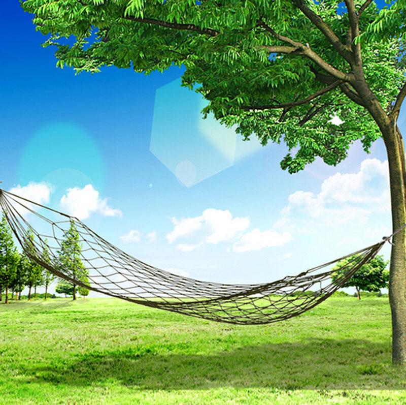 Nylon Hang Mesh Net Camping Hammock for Outdoor and Travel Camp Sleeping Backyard Swing Bed(China (Mainland))