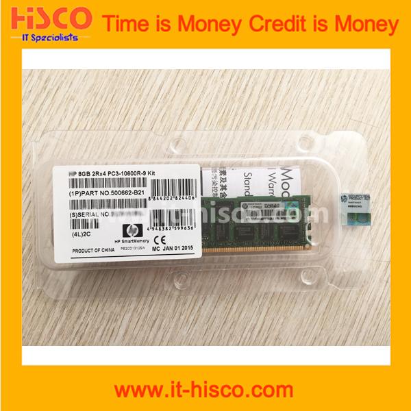 500662-B21 8GB Dual Rank x4 PC3-10600 (DDR3-1333) Registered Memory(China (Mainland))