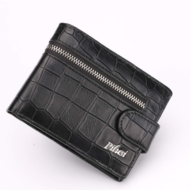 Small Mini Wallets Men with Coin Pocket Designer Man Wallet Leather Black Interior Zipper Pocket Men Purse heren portemonnee(China (Mainland))