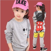 Buy 2017 Cute Mickey Kids Clothes Girls Clothes Sets Spring Long Sleeve 2pcs Cotton Children Clothing Set Autumn Baby Girl Tracksuit for $13.57 in AliExpress store