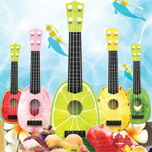 Children Learn Guitar Ukulele Mini Fruit Can Play Musical Instruments Toys PK(China (Mainland))