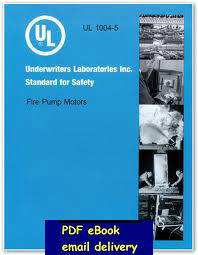 UL 1004-5-2009 Standard for Safety for Fire Pump Motors(China (Mainland))