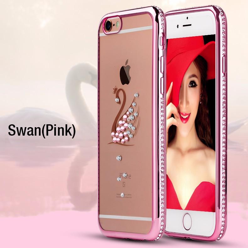 i6 Capinha Rhinestone Plating Diamond Coque Case For i Phone 6S / 6S Plus Cover Owl Capa For iPhone 6 S Clear Bling TPU Fundas