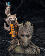 Guardians of the Galaxy Groot & Rocket Raccoon PVC Action Figure Collectible Model Toy Chrismas Gift 14CM