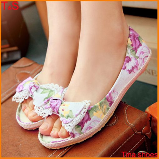 [해외]Big Size 9-13 Women&s open toe sandals flat heel comf..