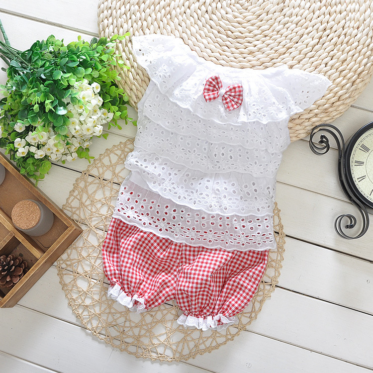 Summer style Baby girl clothes 2015 new baby clothing Set Brand girl summer clothes 2pcs/set babymmclothes for 1-3 Years(China (Mainland))