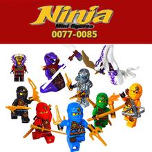 Decool 9Pcs Ninja Zane Lioyd Kai Jay Cole Minifigures Building Blocks Set Model Bricks Action Figures Toy Ninjagoed dadaddis