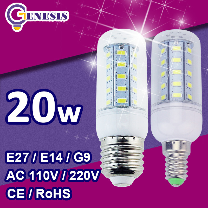LED corn bulb 5730 SMD 9w 12w 15w 18w 20w LED lights E27 E14 110V 220V 240V lamps Cold Warm White Free Shipping(China (Mainland))