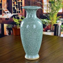 ceramic flower vase modern Jun porcelain antique bottle opening Home Furnishing living room decor minimalist decoration(China (Mainland))