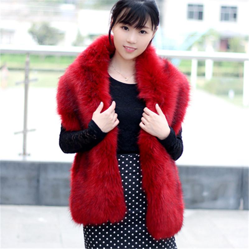 women faux fox fur scarves & wraps female winter warm scarve shawl fashion accessories new arrival(China (Mainland))