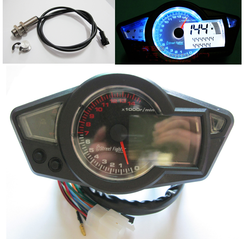 Buy 13000 rpm lcd speedometer tachometer scooter for Tachometer for electric motor