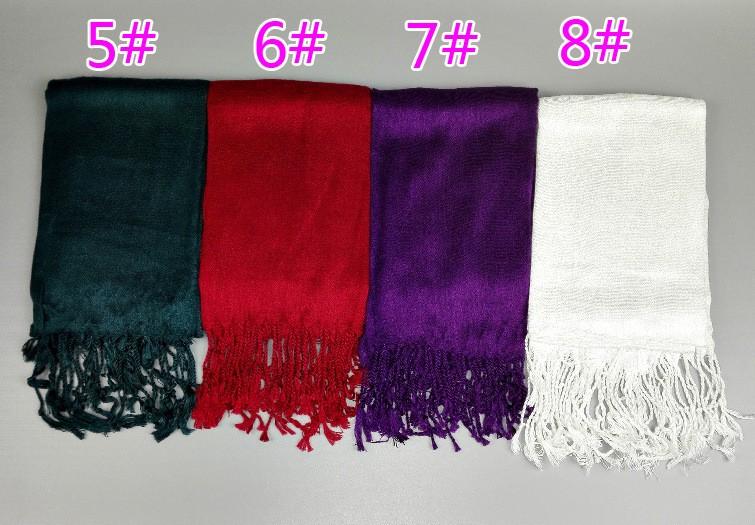 12 Colors Solid Plain Tassel Twilly Viscose Scarf Bufanda Mujer Fashion Brand Designer Wrap Neck Snood