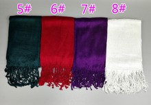 12 Colors Solid Plain Tassel Twilly Viscose Scarf Bufanda Mujer Fashion Brand Designer Wrap Neck Snood Bonnet Hijab Muslim Sjaal