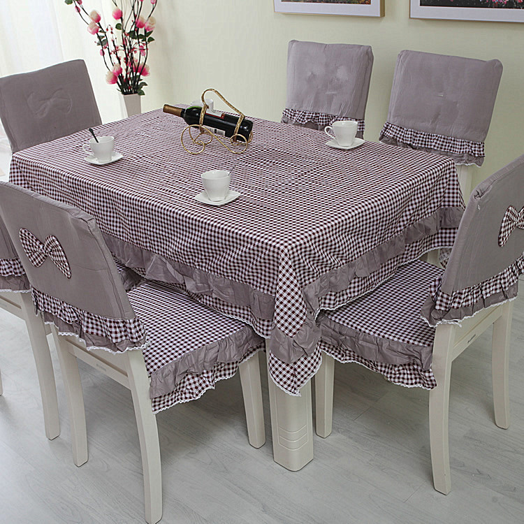 Plaid Rosette Table Cloth Lace Tablecloth Overlays Linen Dining Chair Cover Modern Table Runner Tovaglia Restaurant Tafelkleed(China (Mainland))