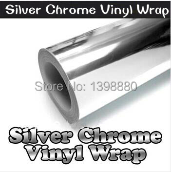 200mmX1520mm Chrome Silver Mirror Vinyl with Bubble Free Air Release DIY Wrap Sheet Film Car Sticker Decal Car Styling(China (Mainland))