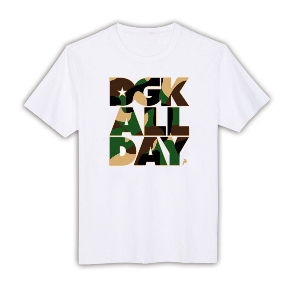 Free shipping 100 cotton o neck dgk short sleeve cool for Custom made tee shirts