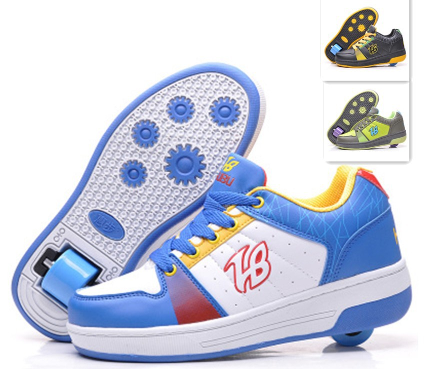 one wheel fashion Kids Sneakers PU Children Flying Shoes Boys girls child Roller Shoe sports casual Size 30-41