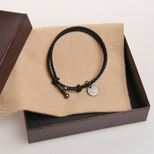 Classic Brand Casual Sheepskin Leather Woven Bracelet Men and Women Unisex Multi-Layer Manual Hand Rope Bracelet free shipping(China (Mainland))