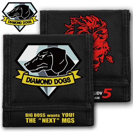 New Game Metal Gear Solid Diamond Dogs wallet oxford Anime Bags(China (Mainland))