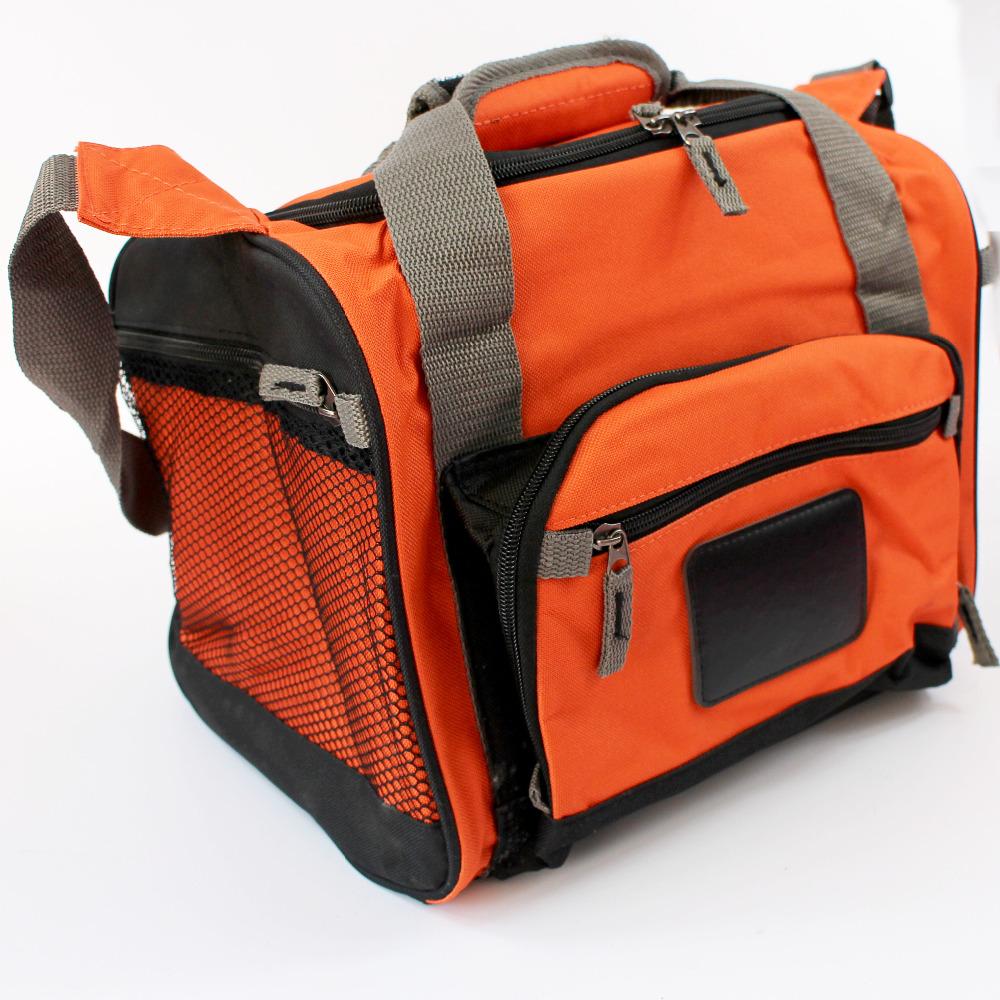 2016 thick thermal cooler bag outdoor lunch time ice/heat bag food storage taking organizer orange 2-way using(China (Mainland))