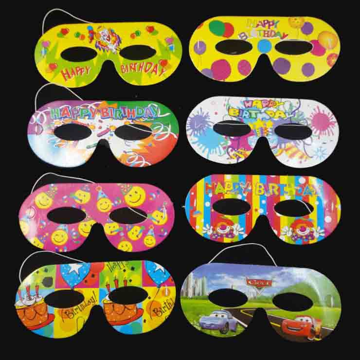 Childrens Day Cartoon Bauta Mask Disposable Half Face Color Paper Cosplay Birthday Party