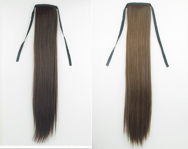 ",22""  75g india Blended hair  Horse tail hair/ Ponytail Hair(#1B,#2,#4,#8,#613,#2t33,#2t30,#4t33,#4t30,#8/613,#27/613)"