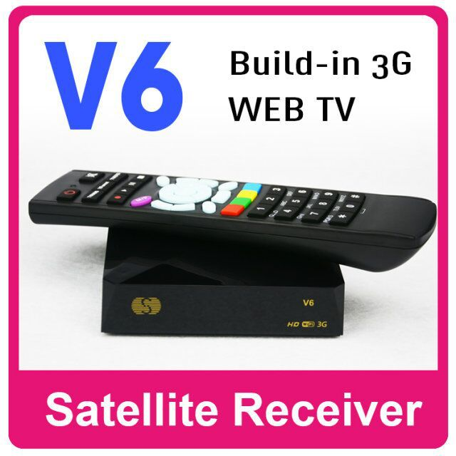 5PCS Original Skybox V6 S-V6 Satellite Receiver/ Set top Box Support 2 USB WEB TV Card Sharing Mini Box Free Shipping(China (Mainland))