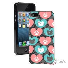 Hearts Kittens Cats Love Protector back skins mobile cellphone cases for iphone 4/4s 5/5s 5c SE 6/6s plus ipod touch 4/5/6