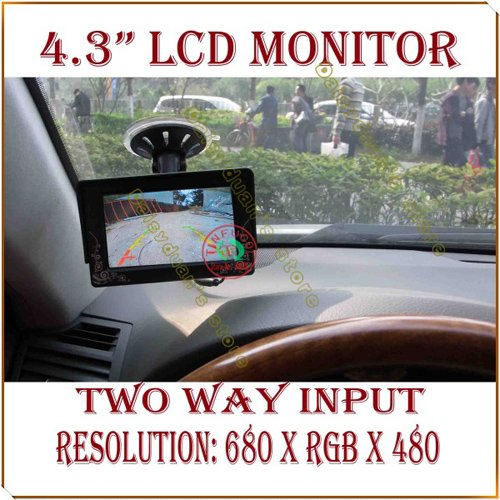 4.3 4.3 inch TFT LCD Sucker fixed Color Car Rearview Monitor for Car Reverse camera<br><br>Aliexpress