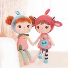 Metoo Angela Girl Plush Dolls Cartoon Stuffed Plush Toys Lovey Girl Sleeping Dolls for Children Birthday Gifts(China (Mainland))