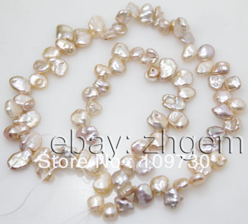 "Jewelry 0012 6-8mm natural pink peach keshi pearl loose beads 15""long strand(China (Mainland))"