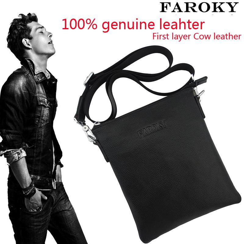 Brand design First layer cowhide leather handbag 100% genuine leather bag men best business messenger real leather bag(China (Mainland))