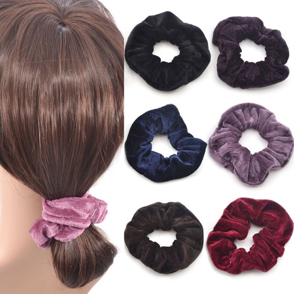 1 Pcs Fashion Women Elastic Hair Accessories Party Hair Scrunchies Ponytail Holder Hairband 10 Colors 2017 New Arrival