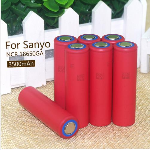 7PCS Original Sanyo 18650 3.7V 3500mAh Rechargeable Lithium Battery NCR18650GA battery10A Discharge+Free shipping(China (Mainland))