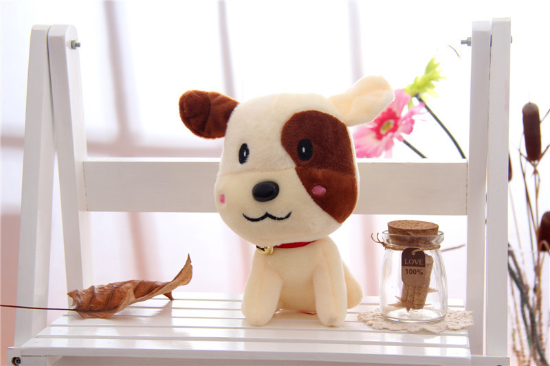 2015 new manufacturers selling 7 inch authentic colorful light fluffy dog luminous plush toys for children gifts(China (Mainland))