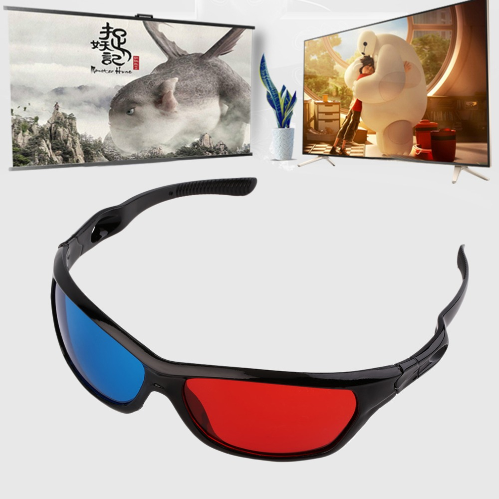 Universal 3D Plastic glasses/Oculos/Red Blue Cyan 3D glass Anaglyph 3D vision/cinema Wholesale(China (Mainland))