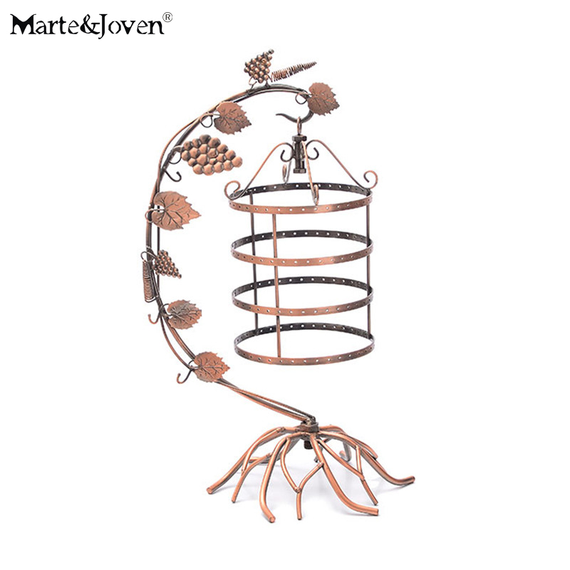 1pc New Fashion Vintage Copper Color Birdcage Earring Stand Holder Necklace Display Rack Hot Sell Jewelry Display Stand(China (Mainland))