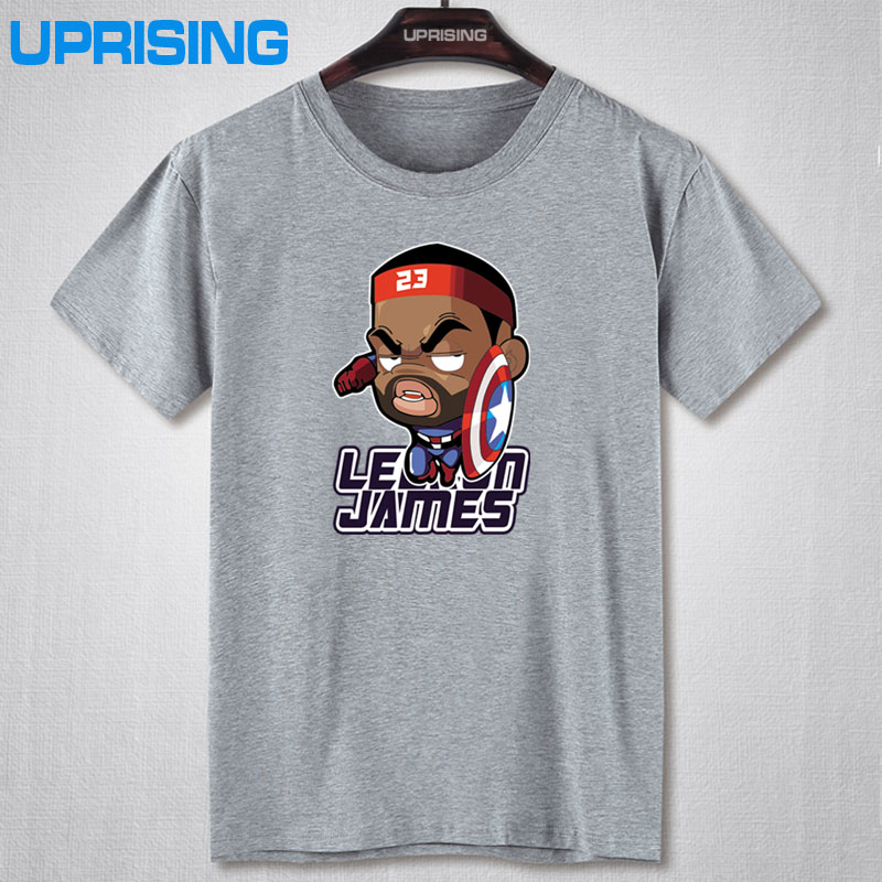 New fashion cartoon men t shirt cotton men's short-sleeved t-shirt basketball sport tee shirts(China (Mainland))