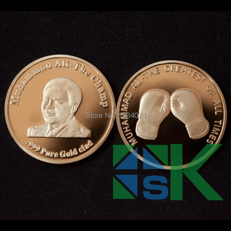 Здесь можно купить  Souvenir Coin,World Legend Hero - King Of Boxing Mohammed Ali 100pcs/lot Souvenir Coin,World Legend Hero - King Of Boxing Mohammed Ali 100pcs/lot Дом и Сад