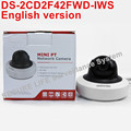 In stock English version DS 2CD2F42FWD IWS 4MP WDR Mini PT Network cctv Camera MINI WIFI