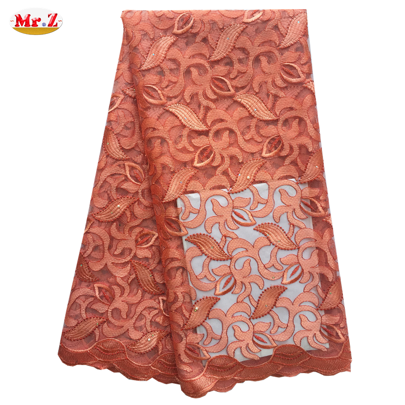 Mr.Z High Quality Nigerian Lace Fabrics 2016 With Stones African French Net Lace Fabric Embroidered Tulle Mesh Lace Fabric N1043(China (Mainland))