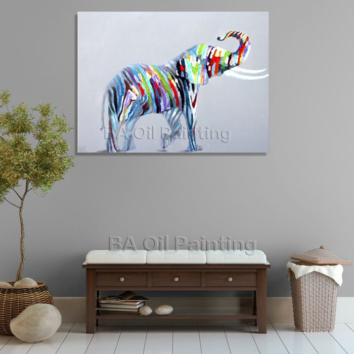 1 Piece Picture Hot Sell Abstract Elephant Modern Home Wall Home Decor Painting Canvas Art