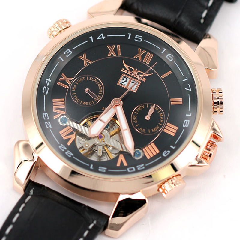 Tourbillon Man Mechanical Watch Automatic Self Wind JARAGAR 2016 New Hot Military Male Gift Free Shipping LZ329<br><br>Aliexpress